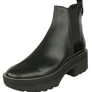 Zara Leather Ankle Platform Boots